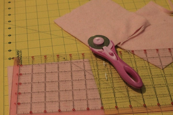 Homemade Reusable Baby Wipes cutting fabric