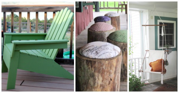 DIY Outdoor Seating Projects- These outdoor benches and chairs can be made on just about any budget. They're a fun way to add seating to your porch or yard.