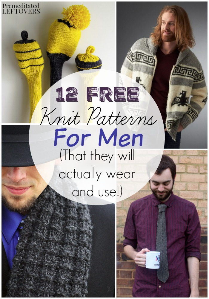 12 Free Knitting Patterns For Men