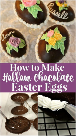 How to Make Hollow Chocolate Easter Eggs - Use this tutorial to make delicious homemade hollow chocolate eggs and fill them with a treats.