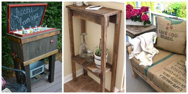 13 Easy DIY Pallet Projects- These 13 easy building tutorials use recycled pallets. Pallet wood is frugal and adds a nice weathered look to your projects.