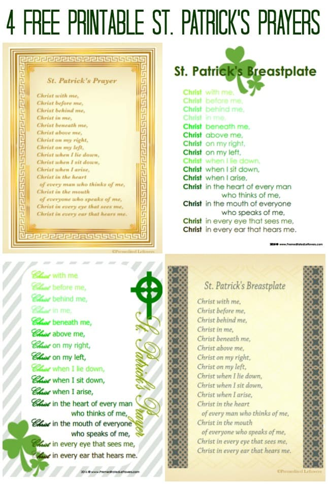 picture relating to Printable Prayers called St. Patricks Breastplate Printables of St. Patricks Prayer