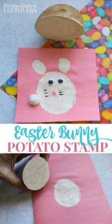 Easter Bunny Potato Stamp