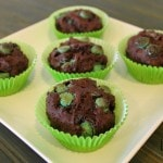 Gluten-Free Chocolate Muffins with Mint Chips