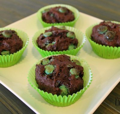 Gluten-Free Chocolate Muffins Recipe with Mint Chips