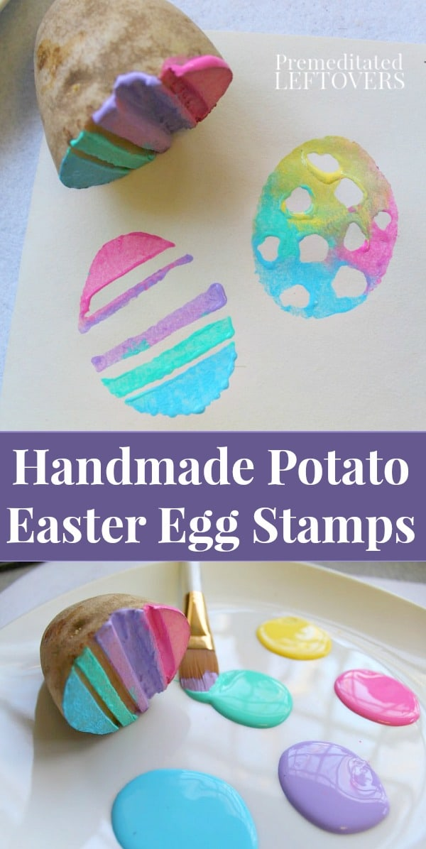 Handmade Potato Easter Egg Stamps Tutorial - A fun Easter activity for kids