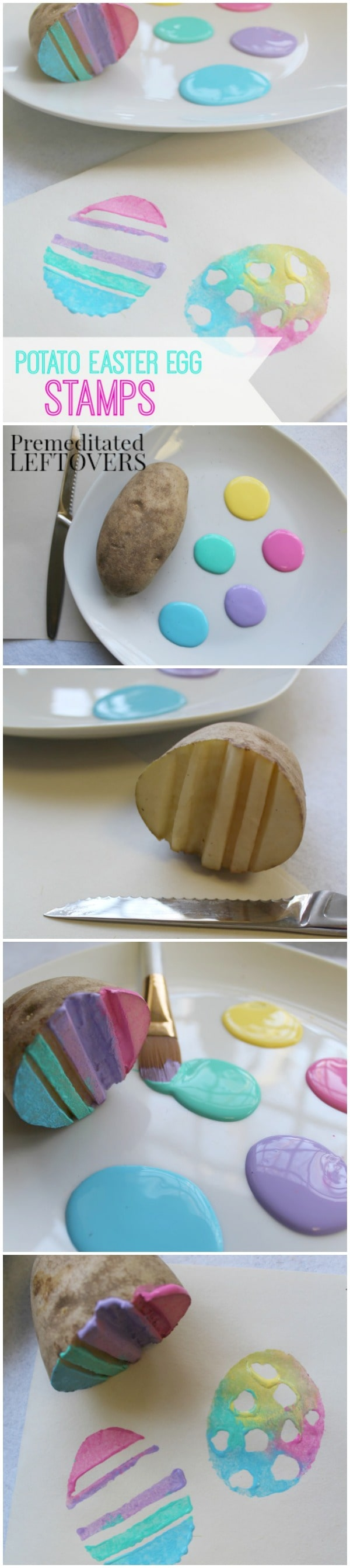 How to make Potato Easter Egg Stamps