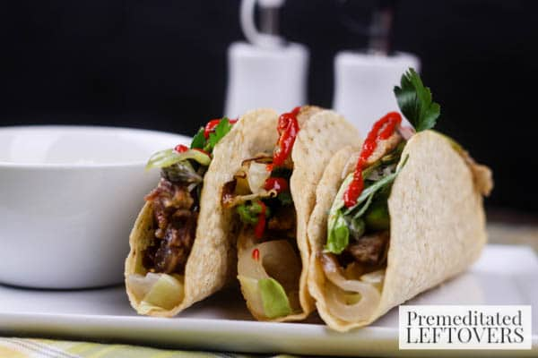 Pork Tacos With Cabbage and Asparagus