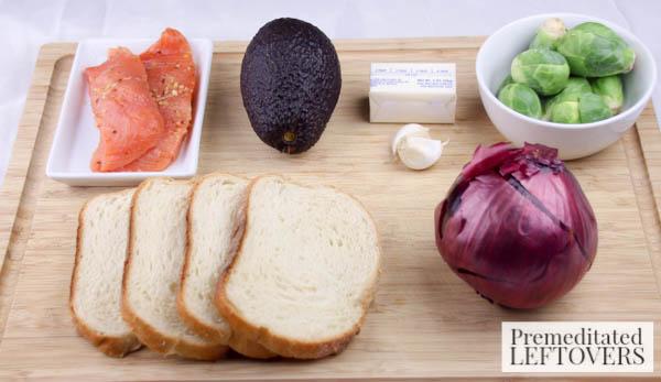 Salmon & Avocado Sandwich ingredients