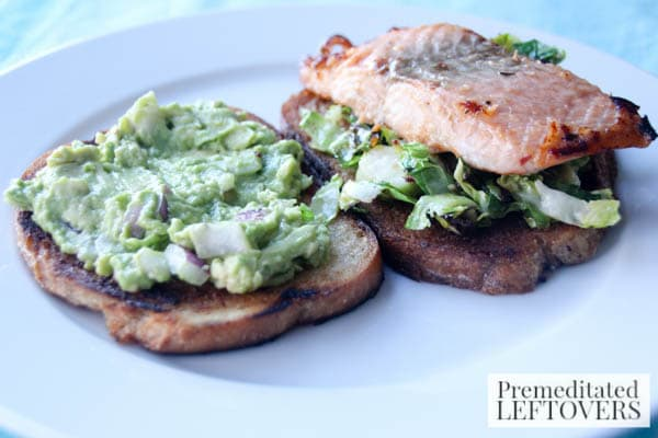 Salmon and Avocado Sandwich plate