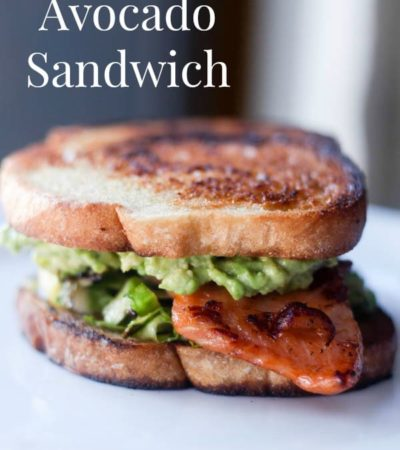 Salmon and Avocado Sandwich- This sandwich recipe is a delicious way to use leftover salmon. It's also loaded with creamy avocado and brussels sprouts.