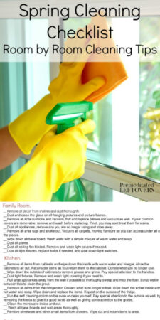 Spring Cleaning Checklist with room by room cleaning ideas