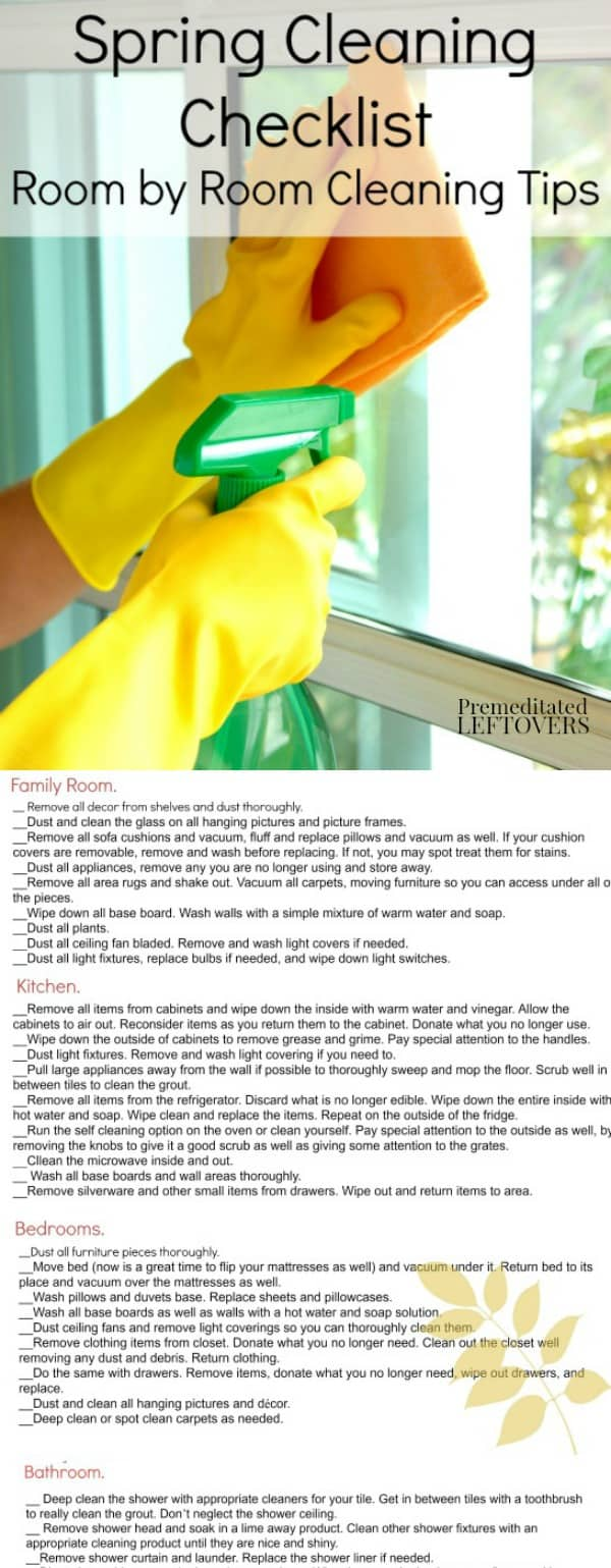 spring cleaning checklists room by room cleaning tips