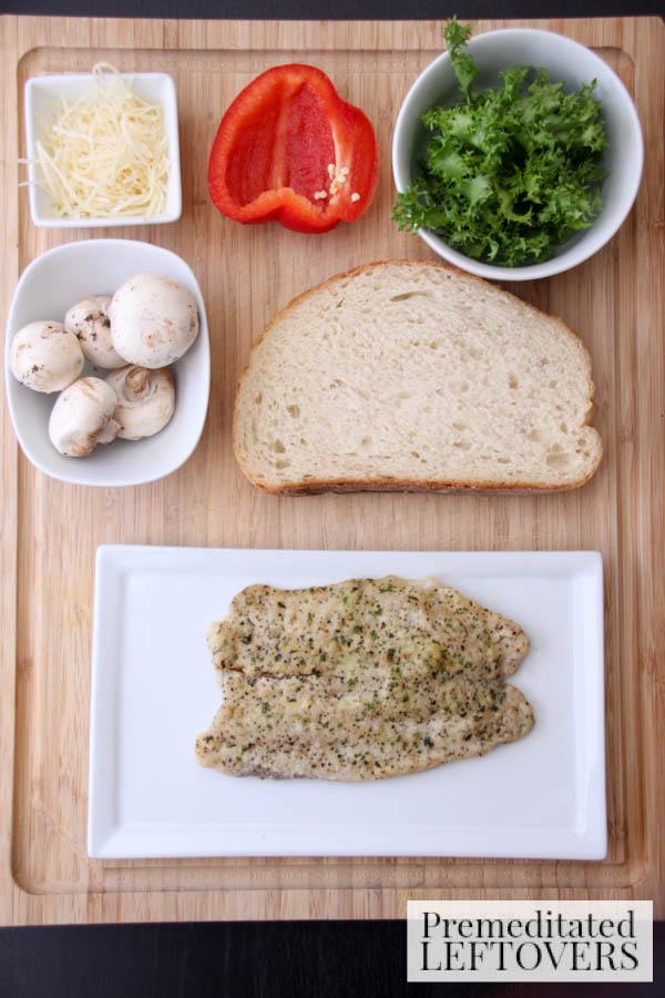 Tilapia Bruschetta Sandwich ingredients
