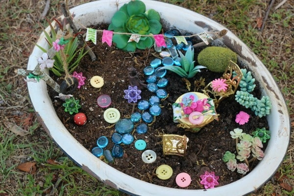 Tea Party Fairy Garden