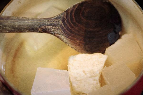 Oatmeal and Honey Moisturizing Bar Soap melting