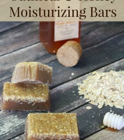 Oatmeal and Honey Moisturizing Bar Soap- This homemade soap is a natural way to moisturize and exfoliate your skin. It is gentle enough for kids and adults.