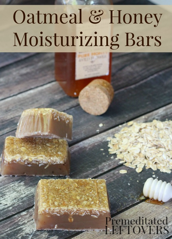 Oatmeal and Honey Moisturizing Bar Soap- This homemade soap is a natural way to moisturize