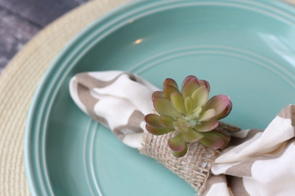 DIY Faux Succulent Napkin Ring final