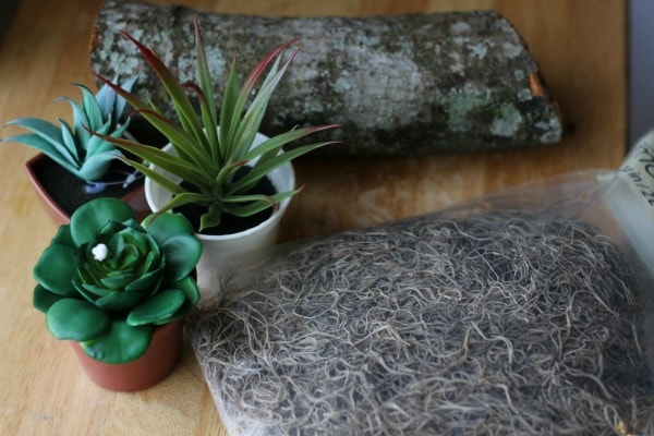 Rustic Faux Succulent Planter materials