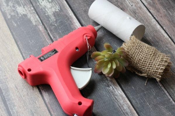 DIY Faux Succulent Napkin Rings-supplies