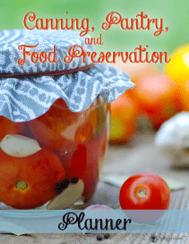 Canning and food preservation Planner