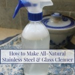 All-Natural Stainless Steel and Glass Cleaner Recipe- Looking for a natural way to clean your stainless steel and windows? Try this easy DIY recipe!