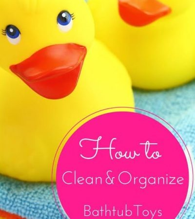 Learn how to clean and organize Bathtub Toys- How to get children's bathtub toys under control and squeaky clean so they are safe and out of the way.