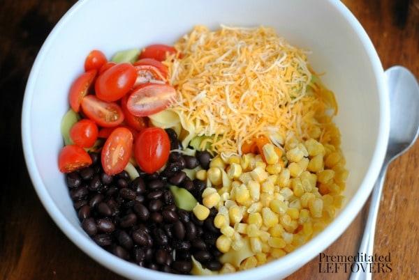 Ingredients for Southwest Tortellini Salad Recipe