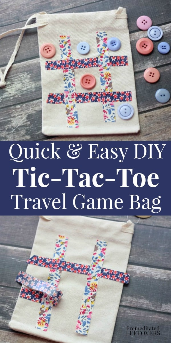 quick and easy DIY  tic-tac-toe travel game
