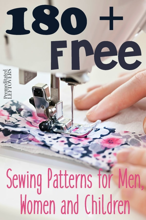 180 Free Sewing Patterns For Men Women And Children