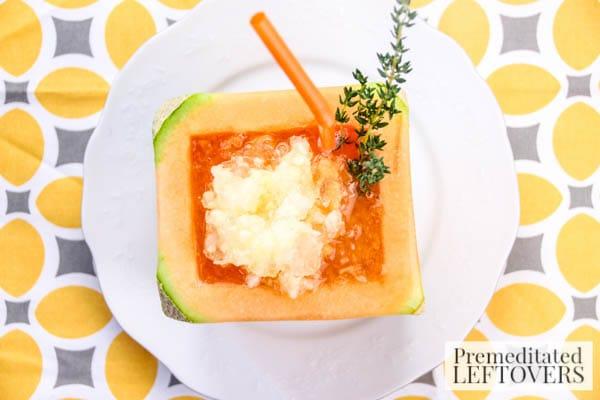 Cantaloupe and Sweet Apple Slush