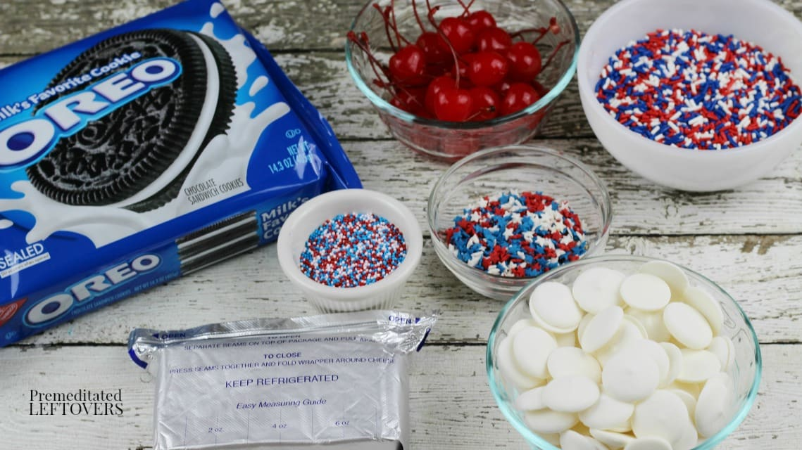 Cherry-Stuffed Oreo Truffle Ingredients