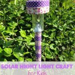 Solar Nightlight Craft for Kids- This frugal craft is a great way to repurpose solar lawn lights. Kids will love using these portable nightlights indoors!