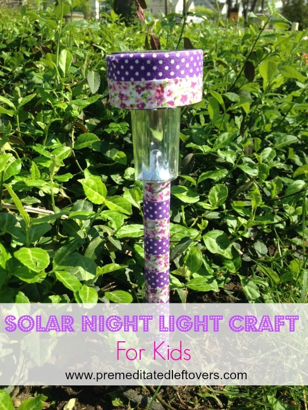 Solar Nightlight Craft For Kids