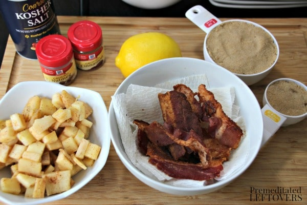 Easy Apple and Bacon Cinnamon Roll Recipe ingredients