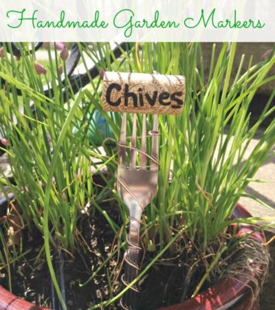 DIY Wire Wrapped Wine Cork Garden Markers- These homemade cork and wire markers are a fun, frugal, and whimsical way to identify plants in your garden.