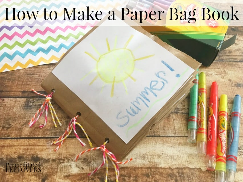 How To Make A Book Bag : How to make a paper bag book for kids