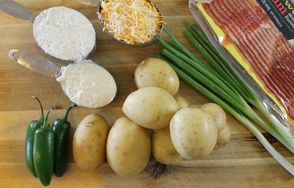 Ingredients for Jalapeno Popper Potato Salad Recipe