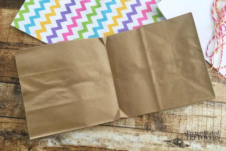 How to Make a Paper Bag Book for Kids - stacked paper bags