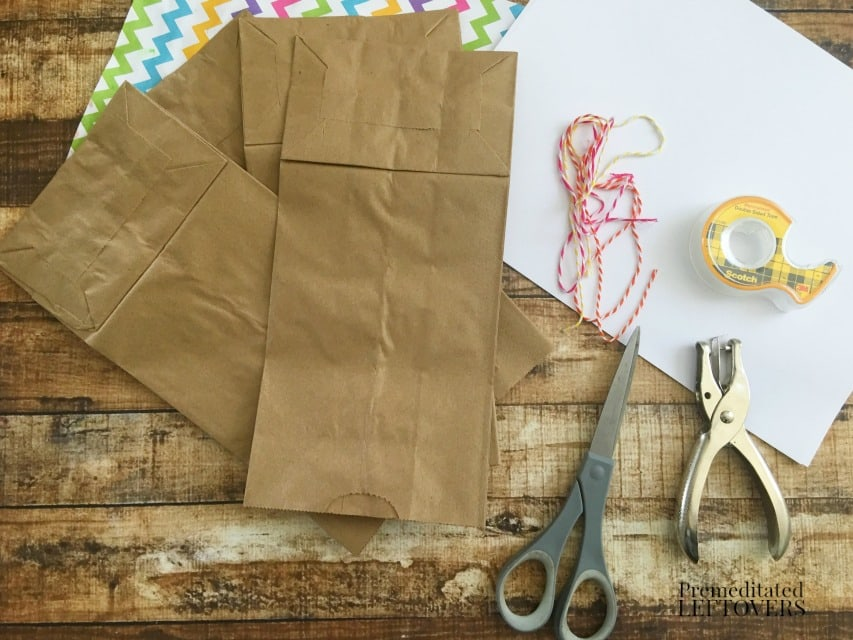 How to Make a Paper Bag Book for Kids- supplies needed