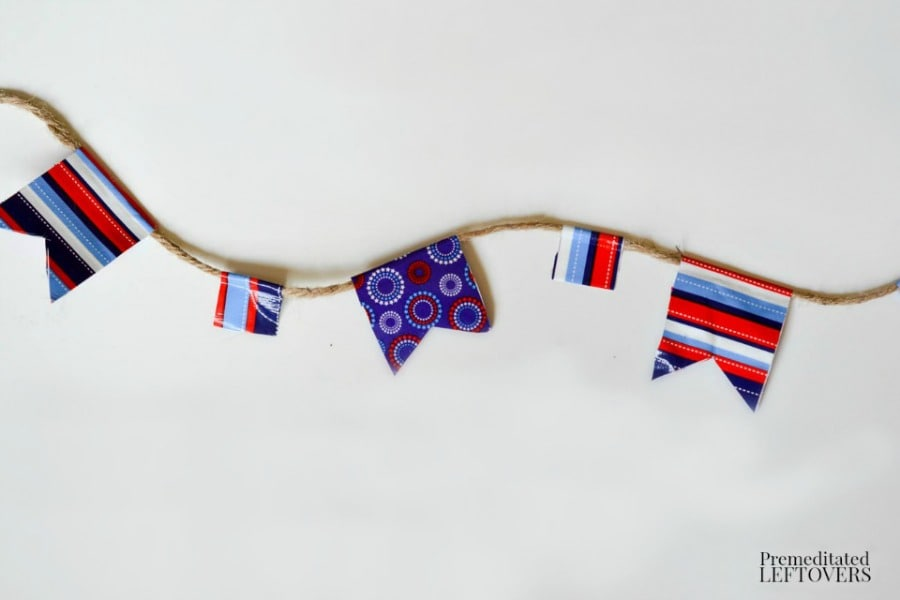Patriotic Duct Tape Banner