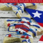 Patriotic Star Homemade Sugar Cookies- These star sugar cookies are a fun and easy patriotic dessert. They're perfect for the 4th of July or any summer BBQ