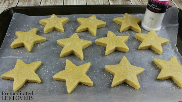 Patriotic Star Homemade Sugar Cookies- Sprinkling Sugar