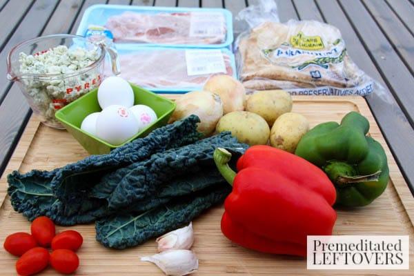 Pita Breakfast Sandwich-ingredients