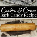 Homemade Cookies and Cream Bark Recipe - A quick and easy recipe for cookies and cream bark candy. Only uses 3 ingredients. No cooking required!