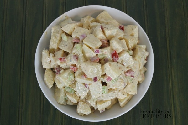 Quick and easy recipe for Cajun Ranch Potato Salad