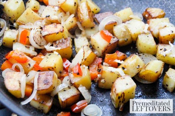 Stuffed Breakfast Peppers- brown potatoes