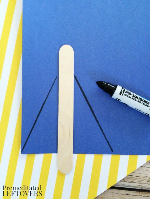 Superhero Sticks Craft for Kids cape