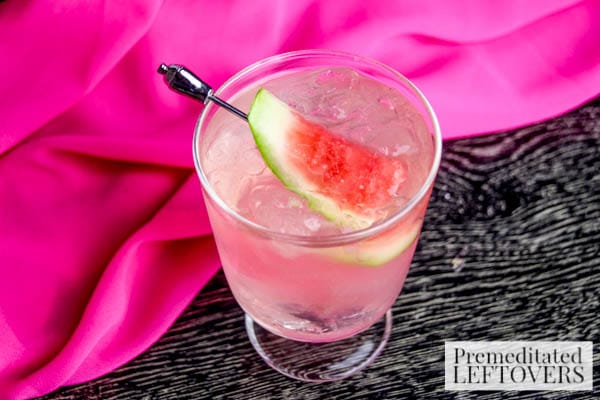 Watermelon & Lemonade Martini- Enjoy this lemon martini with your favorite gin and a slice of fresh watermelon. It's a fun and easy summer cocktail recipe!